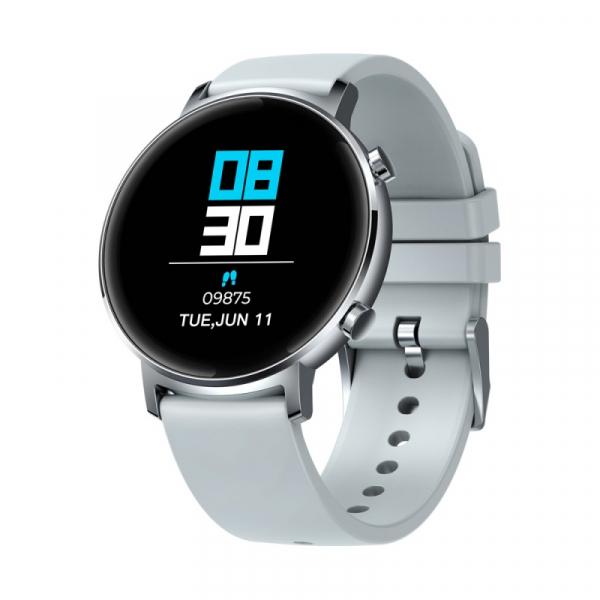 Smartwatch Zeblaze GTR Silver, IPS 1.3 , Ritm cardiac, Presiune sanguina, Calorii, Menstruatie, Meteo, Control muzica, 180mAh