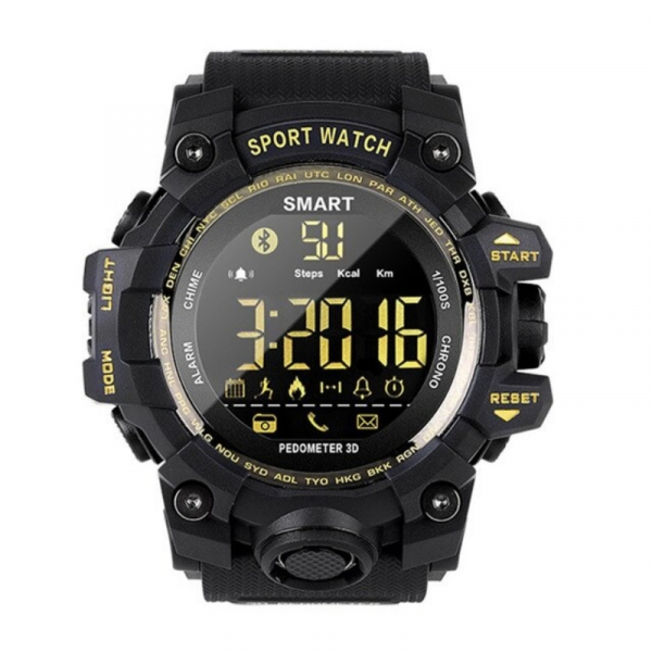 Smartwatch STAR EX16S, LCD FSTN iluminat, Waterproof IP67, Bluetooth v4.0, Baterie CR2032, Negru 1