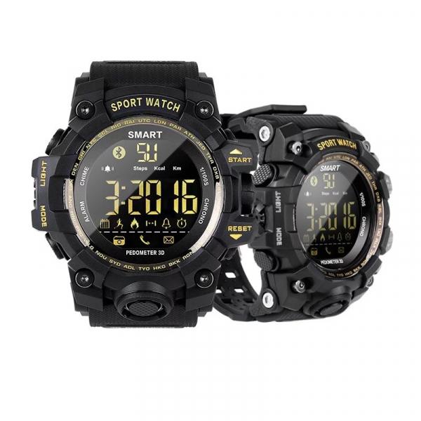 Smartwatch STAR EX16S, LCD FSTN iluminat, Waterproof IP67, Bluetooth v4.0, Baterie CR2032, Negru 2
