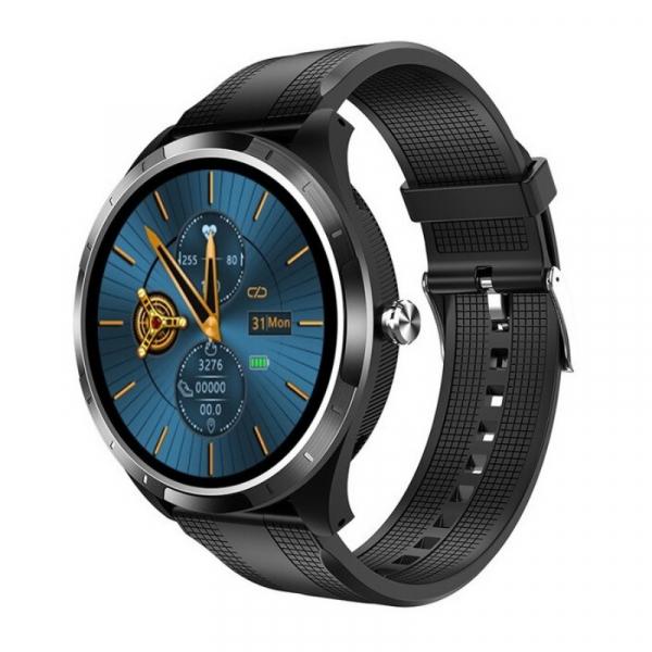 Smartwatch STAR X3 Negru cu bratara neagra din TPU, 1.3 Full Touch, EKG, Saturatie oxigen, Ritm cardiac, Presiune sanguina, IP68