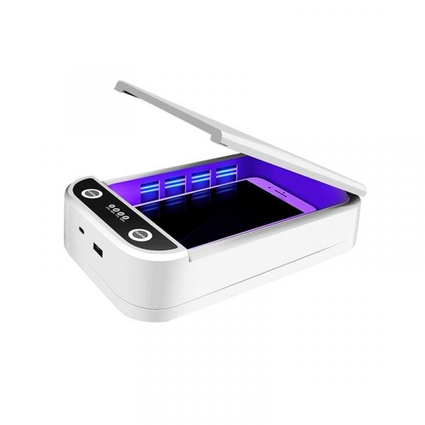 Sterilizator UV cu ozon multi-functional portabil STAR cu aromatherapy reincarcabil cu incarcator wireless si notificare vocala, Alb 3