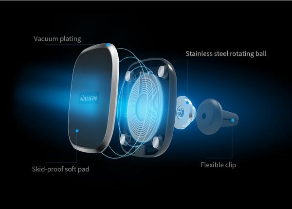 Suport auto  magnetic cu incarcare  wireless Nillkin  versiunea 2 7