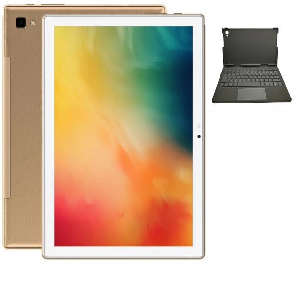 Tableta Blackview Tab 8 + Tastatura, 4G, IPS 10.1 FHD+, Android 10, 4GB RAM, 64GB ROM, OctaCore, 13MP, Face ID, 6580mAh, Dual SIM, EU, Gold imagine