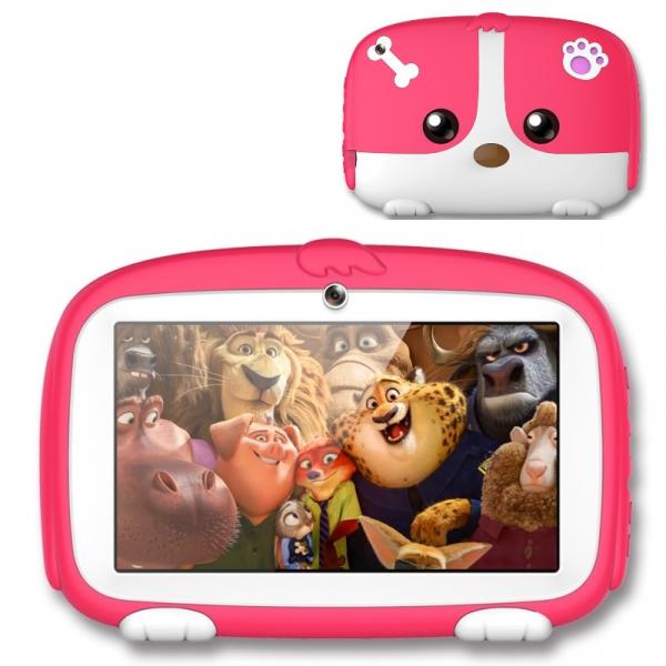 Tableta Beneve Q718 Roz Resigilat, 3G, LCD 7 , Android 9, 1GB RAM, 16GB ROM, Wi-Fi, Camera, Slot card, 2800mAh