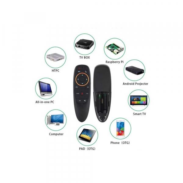 Telecomanda/Mouse wireless (2.4G) cu control vocal Jckel G10 cu giroscop pentru Android TV Box 3