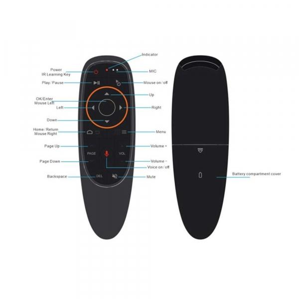 Telecomanda/Mouse wireless (2.4G) cu control vocal Jckel G10 cu giroscop pentru Android TV Box 4