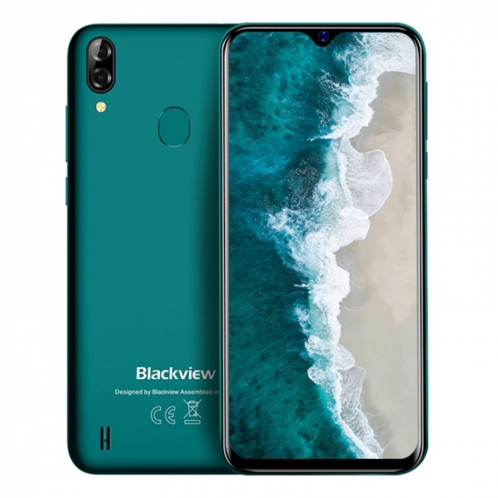 Telefon mobil Blackview A60 Verde, 3G, IPS 6.1 , 2GB RAM, 16GB ROM, Android 10 GO, MediaTek MT6580A QuadCore, 4080mAh, Dual SIM imagine dualstore.ro 2021