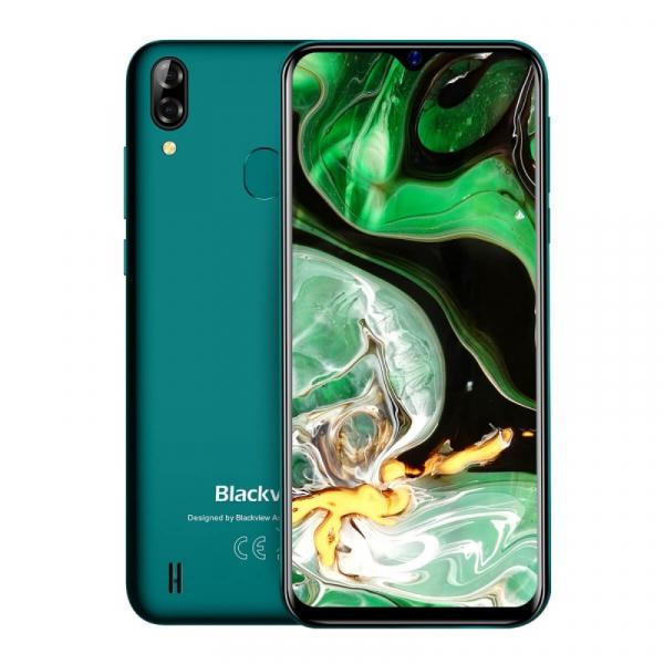 Telefon mobil Blackview A60 Plus Verde, 4G, IPS 6.088 , 4GB RAM, 64GB ROM, Android 10, Helio A22 QuadCore, MicroSD dedicat, 4080mAh imagine