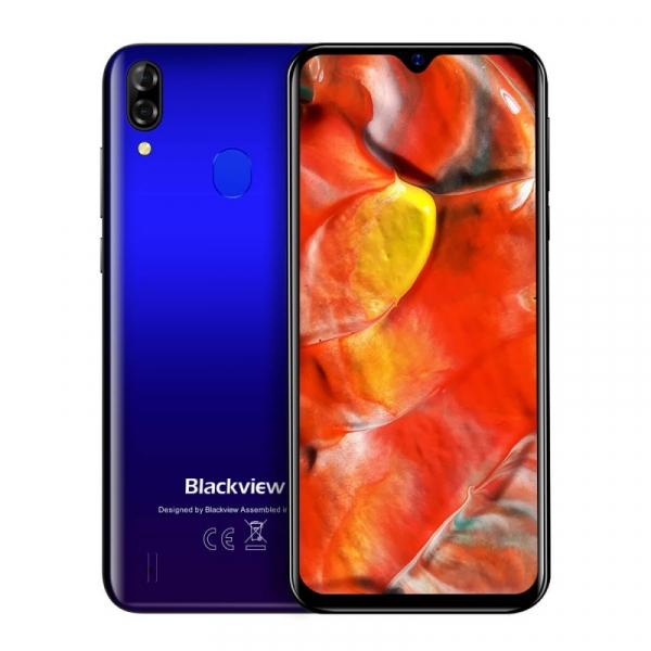 Telefon mobil Blackview A60 Plus Albastru, 4G, IPS 6.088 , 4GB RAM, 64GB ROM, Android 10, Helio A22 QuadCore, MicroSD dedicat, 4080mAh