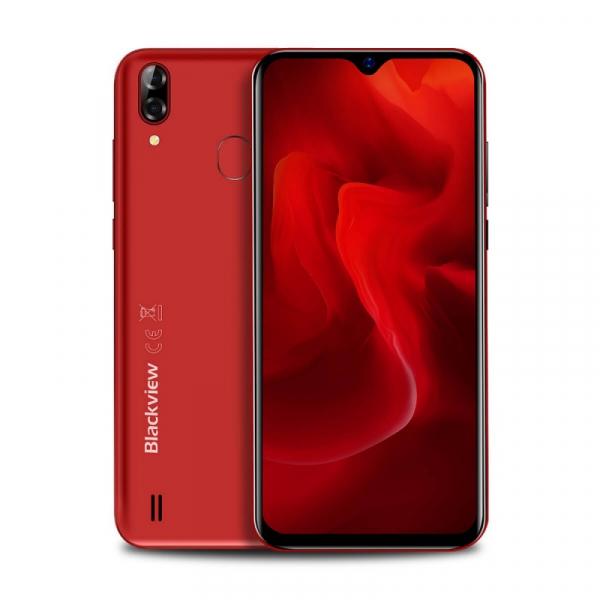 Telefon mobil Blackview A60 Plus Rosu, 4G, IPS 6.088 , 4GB RAM, 64GB ROM, Android 10, Helio A22 QuadCore, MicroSD dedicat, 4080mAh