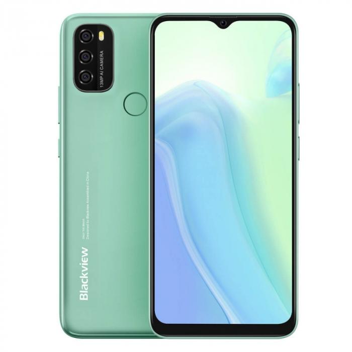 Telefon mobil Blackview A70 Verde, 4G, IPS 6.517 Waterdrop, 3GB RAM, 32GB ROM, Android 11, Unisoc SC9863A OctaCore, 5380mAh, Dual SIM imagine dualstore.ro 2021
