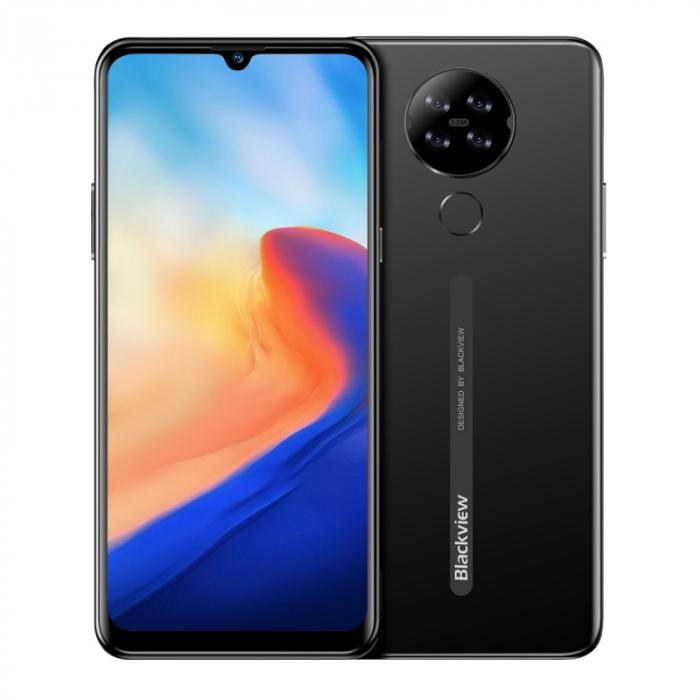 Telefon mobil Blackview A80 2020, 4G, IPS 6.21 , 2GB RAM, 16GB ROM, Android 10 GO, MT6737V W, Quad Camera, 4200mAh, Dual SIM, Negru imagine dualstore.ro 2021