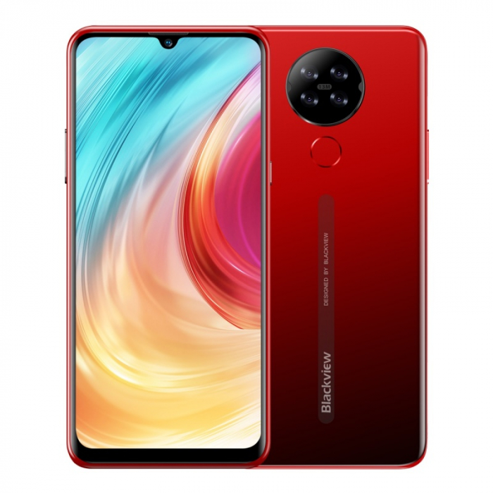 Telefon mobil Blackview A80 2020, 4G, IPS 6.21 , 2GB RAM, 16GB ROM, Android 10 GO, MT6737V W, Quad Camera, 4200mAh, Dual SIM, Rosu imagine dualstore.ro 2021