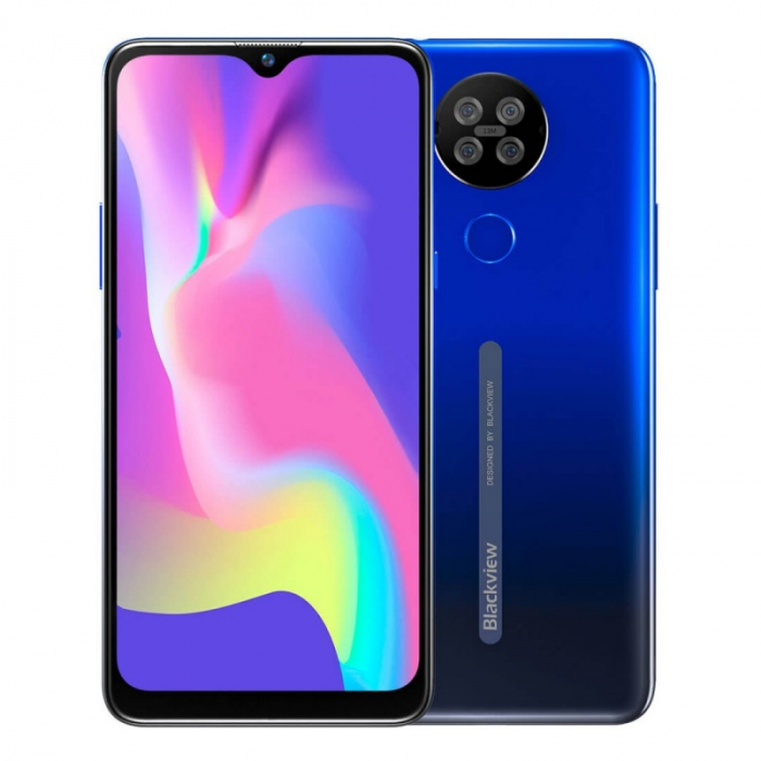 Telefon mobil Blackview A80s Albastru, 4G, IPS 6.217 Waterdrop, 4GB RAM, 64GB ROM, Android 10, Helio A25 OctaCore, 4200mAh, Dual SIM imagine dualstore.ro 2021