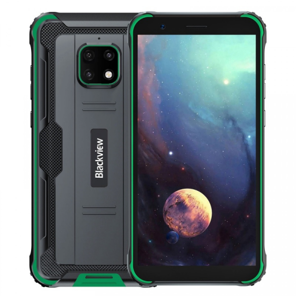 Telefon mobil Blackview BV4900, 4G, IPS 5.7 , 3GB RAM, 32GB ROM, Android 10, Helio A22 QuadCore, NFC, 5580mAh, Dual SIM, Verde imagine