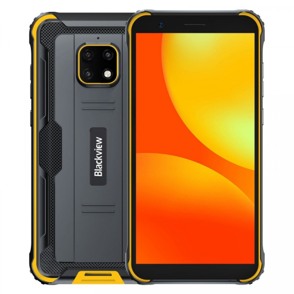Telefon mobil Blackview BV4900, 4G, IPS 5.7 , 3GB RAM, 32GB ROM, Android 10, Helio A22 QuadCore, NFC, 5580mAh, Dual SIM, Galben imagine