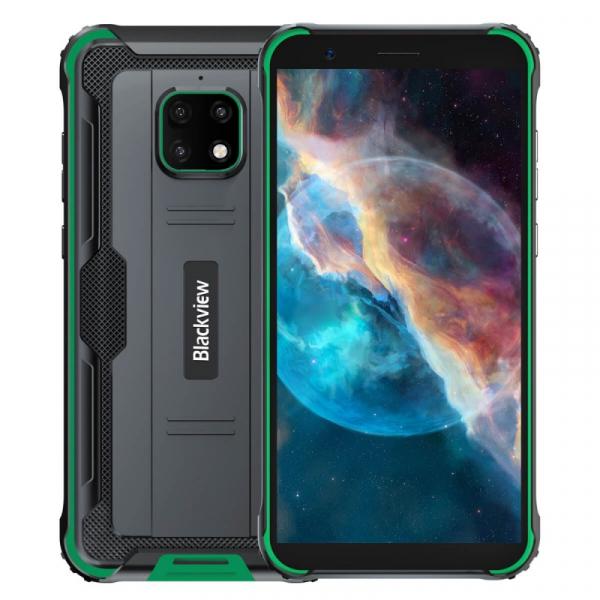 Telefon mobil Blackview BV4900 Pro Verde, 4G, IPS 5.7 , 4GB RAM, 64GB ROM, Android 10, Helio P22 OctaCore, NFC, 5580mAh, Dual SIM