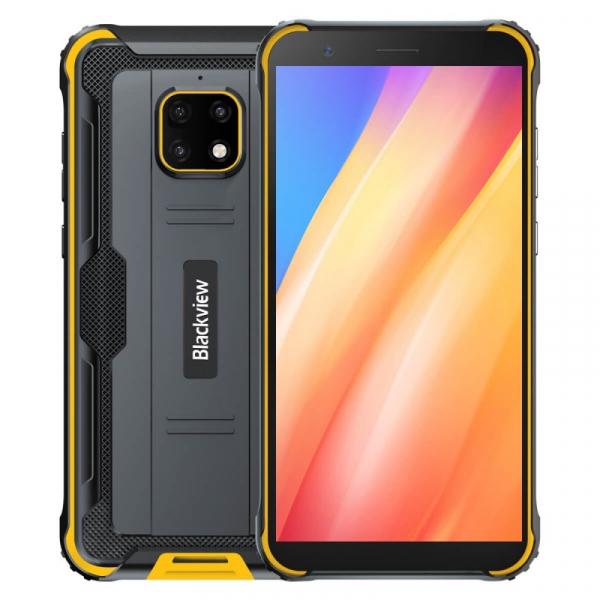 Telefon mobil Blackview BV4900 Pro Galben, 4G, IPS 5.7 , 4GB RAM, 64GB ROM, Android 10, Helio P22 OctaCore, NFC, 5580mAh, Dual SIM