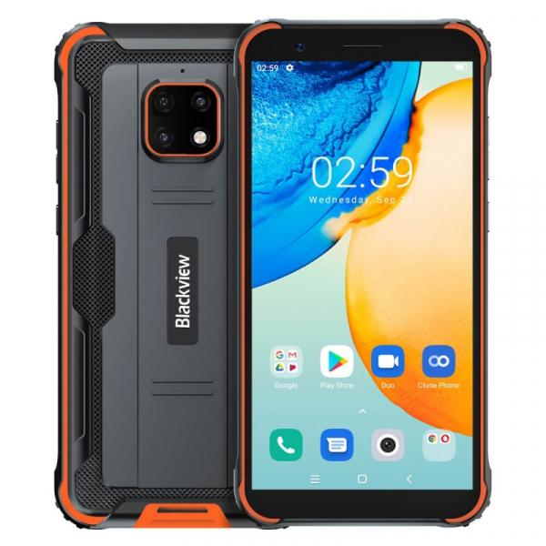 Telefon mobil Blackview BV4900 Pro Orange, 4G, IPS 5.7 , 4GB RAM, 64GB ROM, Android 10, Helio P22 OctaCore, NFC, 5580mAh, Dual SIM