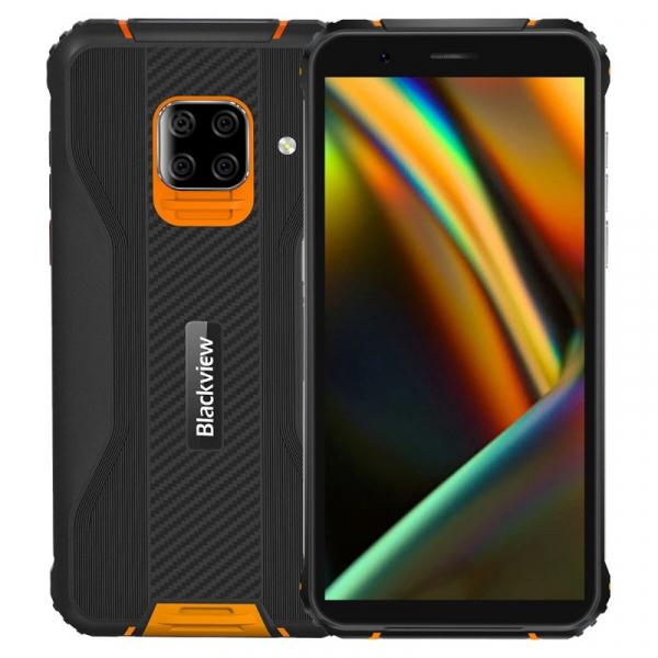 Telefon mobil Blackview BV5100 Orange, 4G, IPS 5.7 , 4GB RAM, 128GB ROM, Android 10, Helio P22, NFC, Incarcare wireless, 5580mAh, Dual SIM