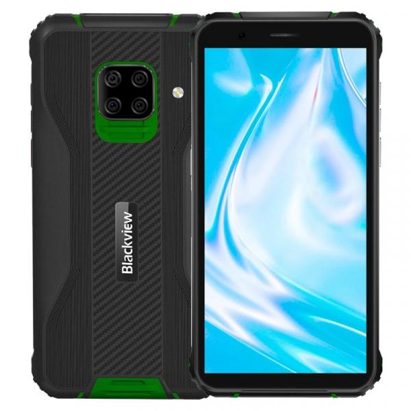 Telefon mobil Blackview BV5100 Pro Verde, 4G, IPS 5.7 , 4GB RAM, 128GB ROM, Android 10, Helio P22, Scanner cod bare, NFC, 5580mAh, Dual SIM imagine