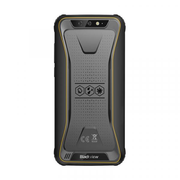 Telefon mobil Blackview BV5500, 3G, IPS 5.5inch, Android 8.1, 2GB RAM, 16GB ROM, MTK6580P QuadCore, 4400mAh, Dual SIM, Waterproof, Galben 1
