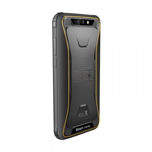 Telefon mobil Blackview BV5500, 3G, IPS 5.5inch, Android 8.1, 2GB RAM, 16GB ROM, MTK6580P QuadCore, 4400mAh, Dual SIM, Waterproof, Galben 3
