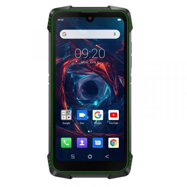 Telefon mobil Blackview BV6900, 4G, IPS 5.84inch, 4GB RAM, 64GB RAM, Android 9.0, Helio P25 OctaCore, Waterproof, 5580mAh, Dual SIM, Verde