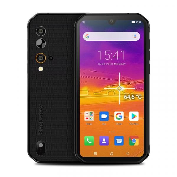 Telefon mobil Blackview BV9900 Pro, 4G, IPS 5.84inch, 8GB RAM, 128GB ROM, Android 9.0, Helio P90, Camera termica, Dual SIM, 4380mAh, Gri imagine