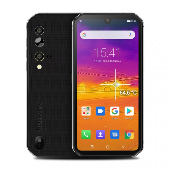 Telefon mobil Blackview BV9900 Pro, 4G, IPS 5.84inch, 8GB RAM, 128GB ROM, Android 9.0, Helio P90, Camera termica, Dual SIM, 4380mAh, Silver imagine