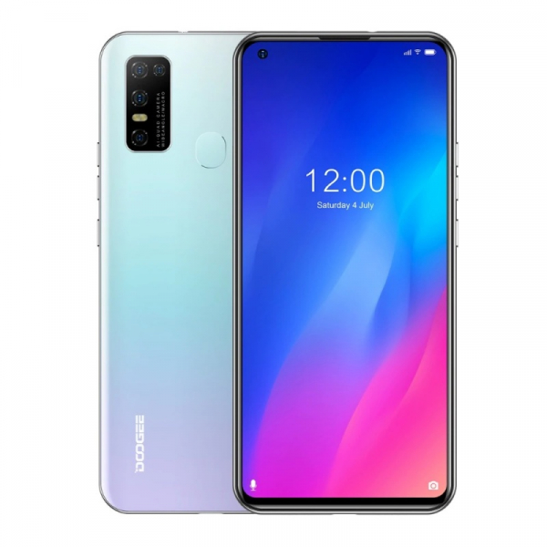 Telefon mobil Doogee N30, 4G, IPS 6.55 , 4GB RAM, 128GB ROM, Android 10, Helio A25 OctaCore, Incarcare rapida 10W, 4500mAh, Alb imagine