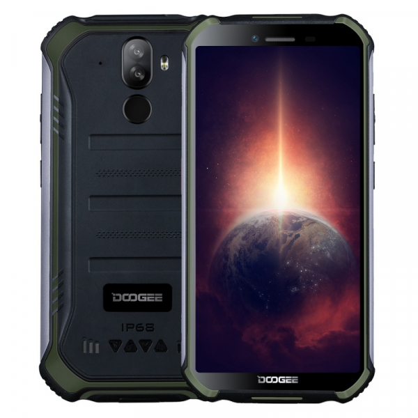 Telefon mobil Doogee S40 Pro Verde, 4G, IPS 5.45 , 4GB RAM, 64GB ROM, Android 10, Helio A25 OctaCore, NFC, IP69K, 4650mAh, Dual SIM imagine