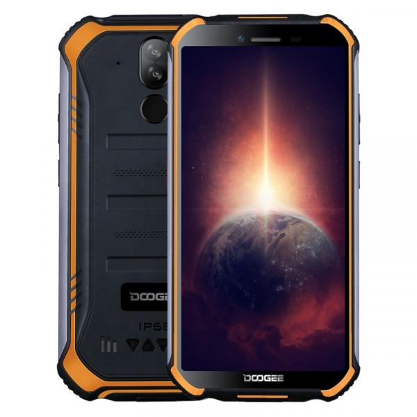 Telefon mobil Doogee S40 Pro Orange, 4G, IPS 5.45 , 4GB RAM, 64GB ROM, Android 10, Helio A25 OctaCore, NFC, IP69K, 4650mAh, Dual SIM imagine