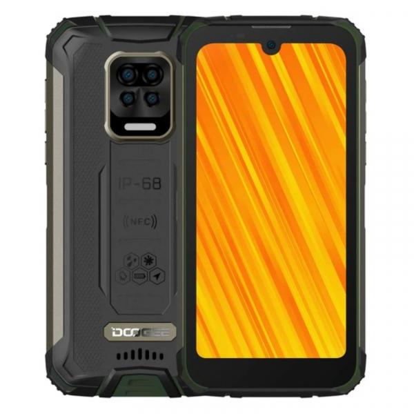 Telefon mobil Doogee S59 Pro Verde, 4G, IPS 5.71 , 4GB RAM, 128GB ROM, Android 10, NFC, Helio P22, Camera submersibila, 10050mAh, Dual SIM imagine dualstore.ro 2021