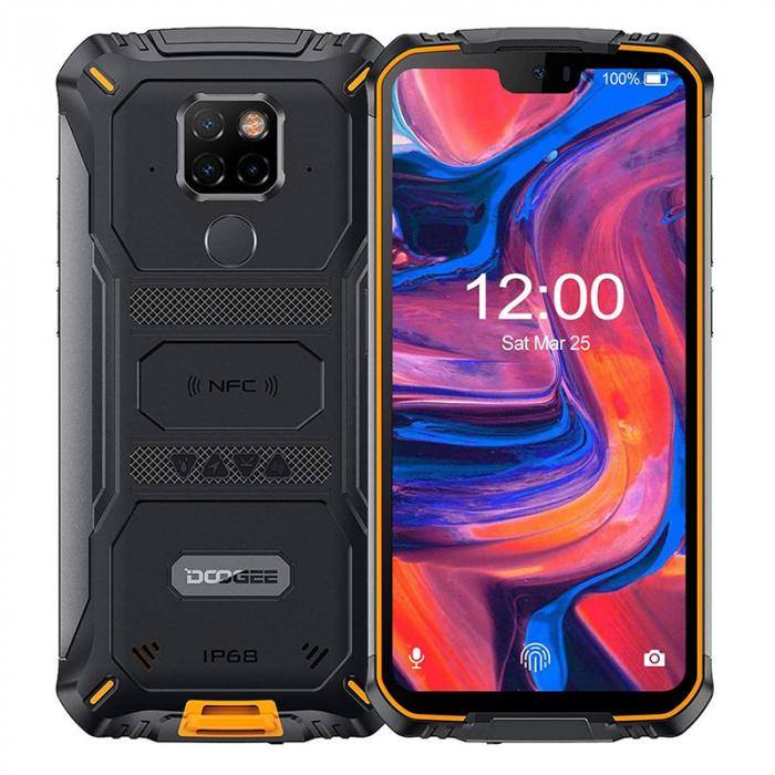 Telefon mobil Doogee S68 Pro Orange, IPS 5.9 , 6GB RAM, 128GB ROM, Android 9.0, Helio P70, 6300mAh, Incarcare Wireless, Dual SIM imagine dualstore.ro 2021