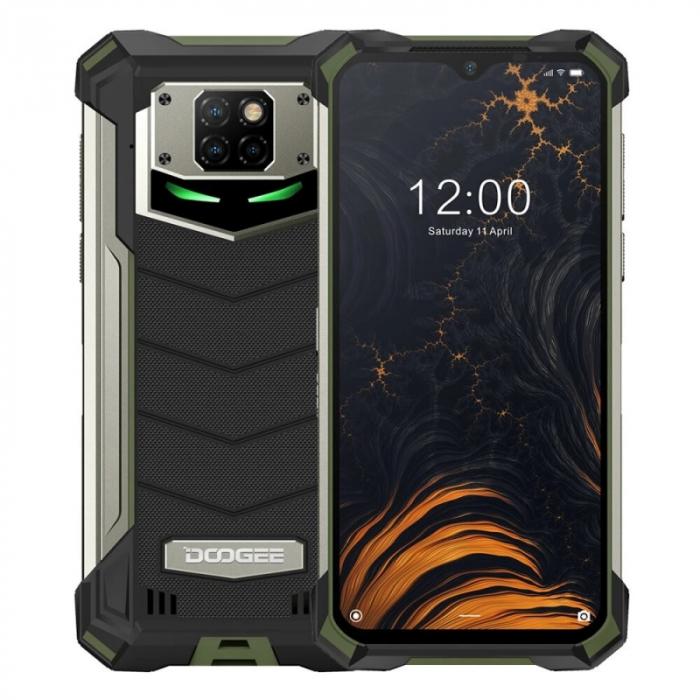 Telefon mobil Doogee S88 Plus Verde, 4G, IPS 6.3 , 8GB RAM, 128GB ROM, Android 10, Helio P70 OctaCore, NFC, Waterproof, 10000mAh, Dual SIM imagine dualstore.ro 2021
