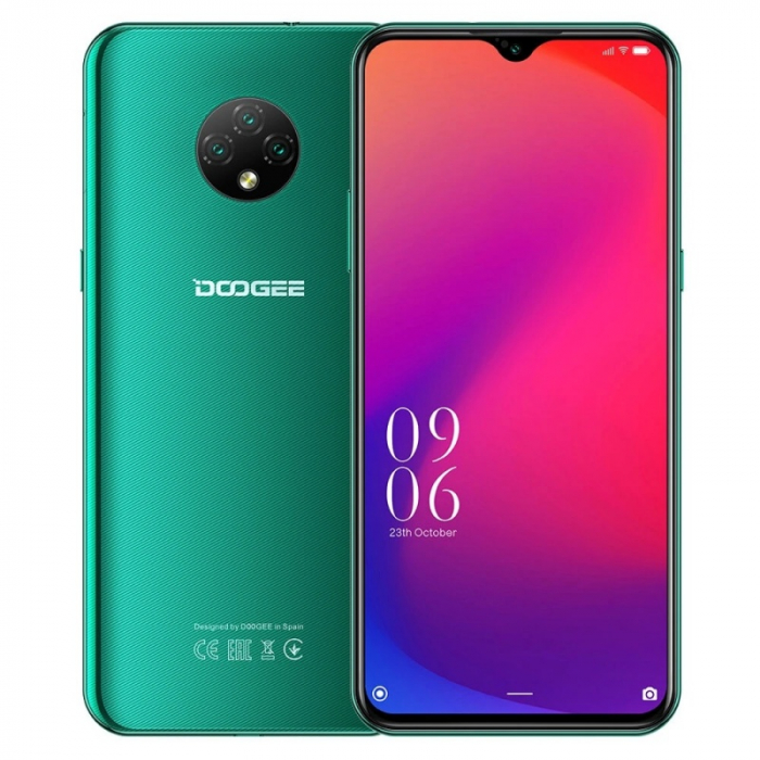 Telefon mobil Doogee X95 Pro Verde, 4G, IPS 6.52 Waterdrop, 4GB RAM, 32GB ROM, Android 10, Helio A20 QuadCore, 4350mAh, Dual SIM imagine dualstore.ro 2021