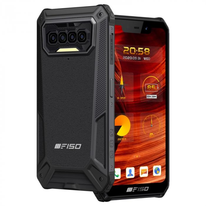 Telefon mobil F150 B2021 Negru, 4G, U-Notch 5.86 , 6GB RAM, 64GB ROM, Android 10, Helio G25 OctaCore, NFC, IP68, 8000mAh, Dual SIM imagine dualstore.ro 2021
