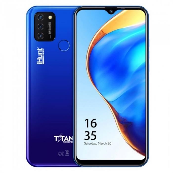 Telefon mobil iHunt Titan P4000 Pro 2021 Albastru, 4G, IPS 6.53 , 2GB RAM, 32GB ROM, Android 10 GO, Spreadtrum SC9832E, 4000mAh, Dual SIM imagine dualstore.ro 2021