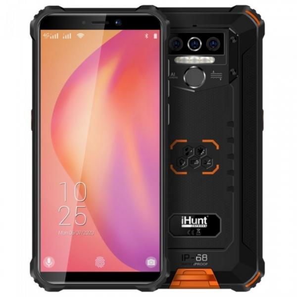 Telefon mobil iHunt Titan P8000 Pro 2021, 4G, IPS 5.5 , 4GB RAM, 32GB ROM, Android 10, MediaTek 6761D QuadCore, 8000mAh, Dual SIM, Orange imagine dualstore.ro 2021