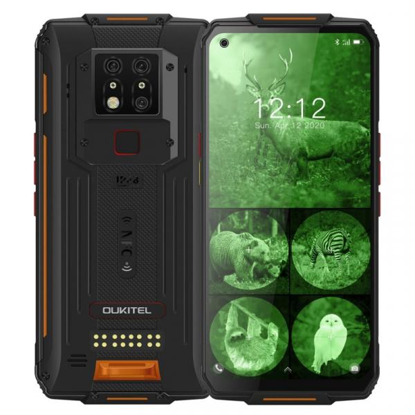 Telefon mobil modular Oukitel WP7, 4G, IPS 6.53 , 8GB RAM, 128GB ROM, Helio P90 OctaCore, NFC, IP68, 8000mAh, Dual SIM, Orange imagine
