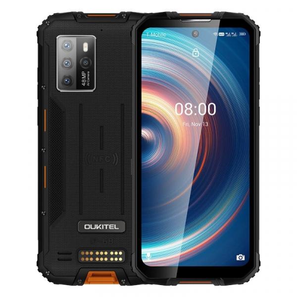 Telefon mobil Oukitel WP10 Orange, 5G, 6.67 FHD+, 8GB RAM, 128GB ROM, Android 10, Dimensity 800, NFC, IP68, 8000mAh, Dual SIM