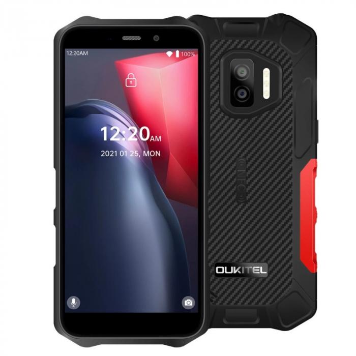 Telefon mobil Oukitel WP12 Rosu, 4G, 5.5 HD+, 4GB RAM, 32GB ROM, Android 11, Helio A22 QuadCore, NFC, IP68, 4000mAh, Dual SIM imagine dualstore.ro 2021