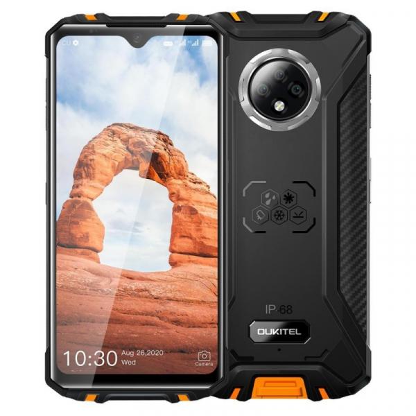 Telefon mobil Oukitel WP8 Pro, 4G, IPS 6.49 Waterdrop, 4GB RAM, 64GB ROM, MediaTek MT6762D OctaCore, NFC, 5000mAh, Dual SIM, Orange imagine