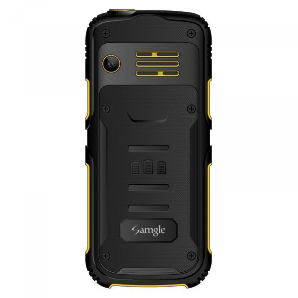 Telefon mobil Samgle Armor Negru cu Galben 2