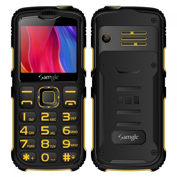 Telefon mobil Samgle Armor Negru cu Galben 0