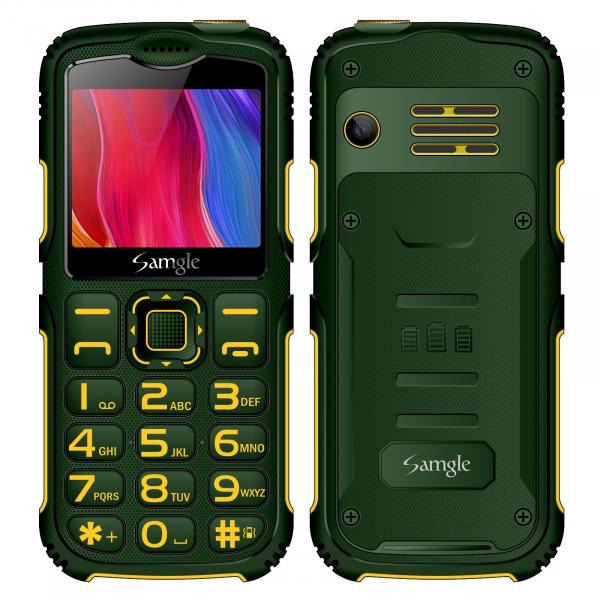 Telefon mobil Samgle Armor, 3G, QVGA 2.0 color, Camera 2.0MP, Bluetooth, FM, Lanterna, 3000mAh, Dual SIM, Stand incarcare cadou, Verde imagine dualstore.ro 2021