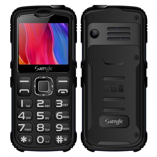 Telefon mobil Samgle Armor, 3G, QVGA 2.0 color, Camera 2.0MP, Bluetooth, FM, Lanterna, 3000mAh, Dual SIM, Stand incarcare cadou, Negru imagine