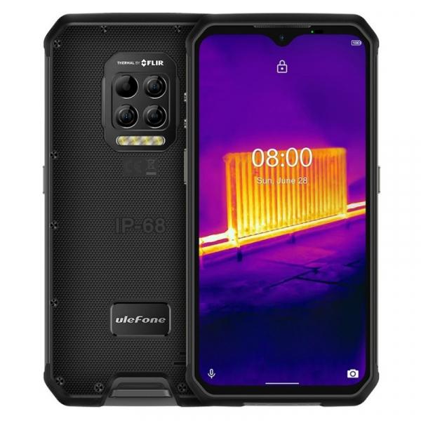 Telefon mobil Ulefone Armor 9, 4G, IPS 6.3 , 8GB RAM, 128GB ROM, Android 10, Helio P90, Camera termica, 6600mAh, Dual SIM, Negru imagine