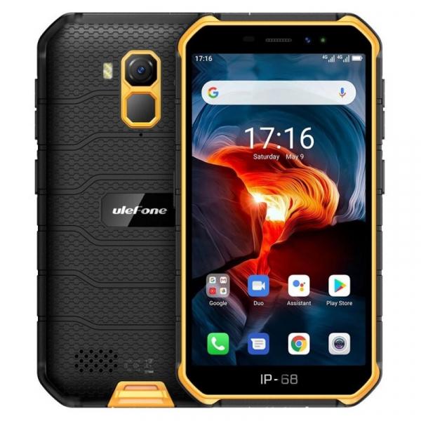 Telefon mobil Ulefone Armor X7 Pro, 4G, IPS 5inch, 4GB RAM, 32GB ROM, Android 10, Helio A20 QuadCore, NFC, 4000mAh, Dual SIM, Orange imagine
